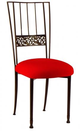 Mahogany Bella Fleur with Million Dollar Red Stretch Knit Cushion (2)