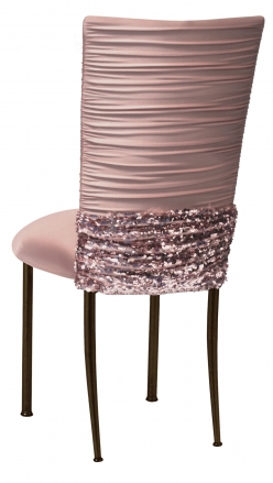 Chloe Blush with Bedazzled Belt and Blush Stretch Knit Cushion on Brown Legs (1)