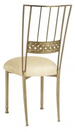 Gold Bella Braid with Champagne Metallic Knit Cushion (1)