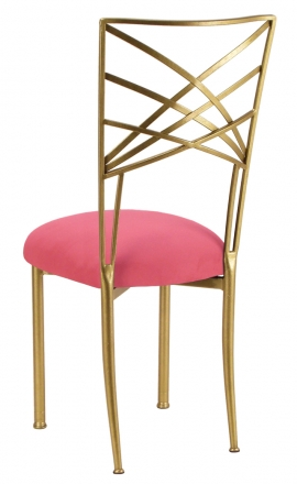 Gold Fanfare with Raspberry Suede Cushion (1)