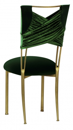 Green Velvet Sweetheart with Green Velvet Cushion on Gold Legs (1)