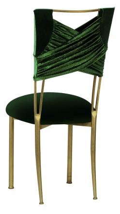 Green Velvet Sweetheart with Green Velvet Cushion on Gold Legs (1)