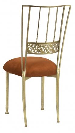 Gold Bella Fleur with Copper Suede Cushion (1)