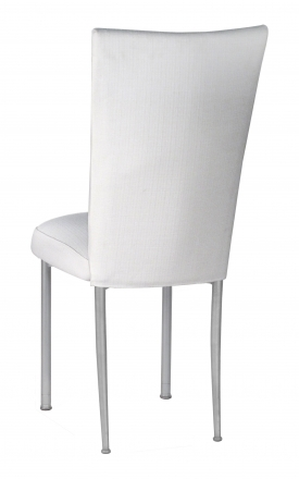 White Linette Chair Cover and Cushion on Silver Legs (1)