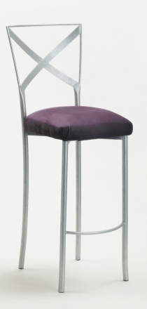 Simply X Barstool with Lilac Suede Cushion (2)