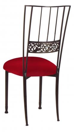Mahogany Bella Fleur with Red Velvet Cushion (1)