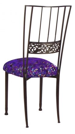Mahogany Bella Fleur with Purple Paint Splatter Knit Cushion (1)