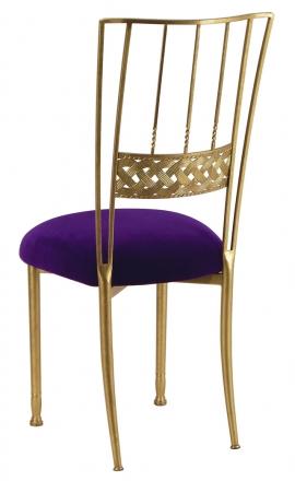 Gold Bella Braid with Eggplant Velvet Cushion (1)