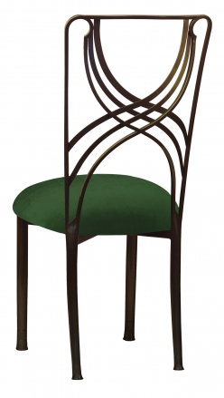 Bronze La Corde with Green Velvet Cushion (1)