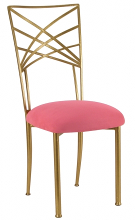 Gold Fanfare with Raspberry Suede Cushion (2)