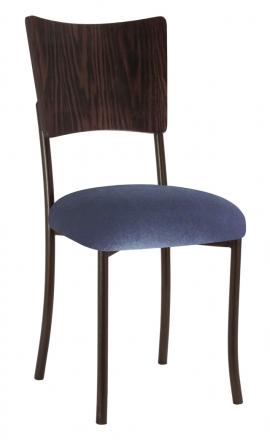 Wood Back Top with Steel Velvet Cushion on Brown Legs (2)