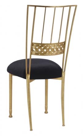 Gold Bella Braid with Black Velvet Cushion (1)