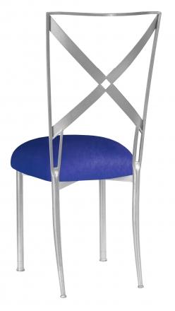 Simply X with Royal Blue Stretch Knit Cushion (1)