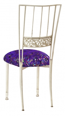 Ivory Bella Fleur with Purple Paint Splatter Knit Cushion (1)