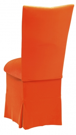 Orange Velvet Chair Cover, Cushion and Skirt (1)