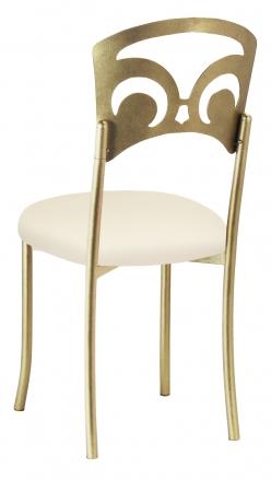 Gold Fleur de Lis with Ivory Stretch Knit Cushion (1)