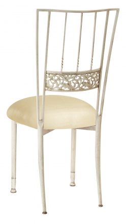 Ivory Bella Fleur with Champagne Metallic Knit Cushion (1)