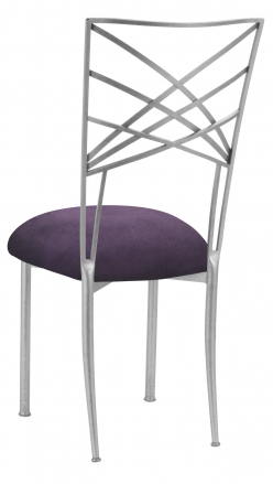 Silver Fanfare with Lilac Suede Cushion (1)