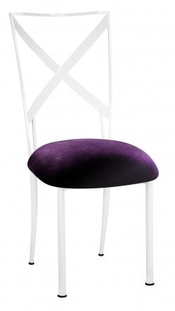 Simply X White with Deep Purple Velvet Cushion (2)