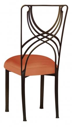 Bronze La Corde with Orange Taffeta Boxed Cushion (1)