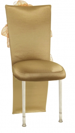 Gold Taffeta Jacket and Tulle Flowers with Boxed Cushion on Ivory Legs (2)