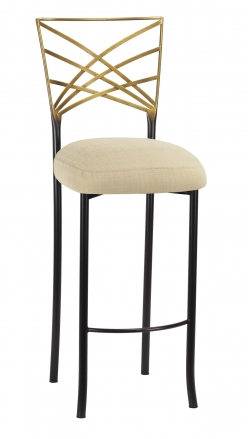 Two Tone Fanfare Barstool with Parchment Linette Boxed Cushion (2)