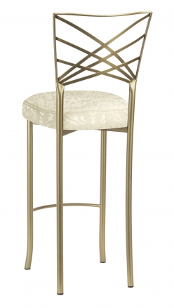 Gold Fanfare Barstool with Victoriana Boxed Cushion (1)