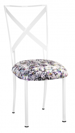 Simply X White with White Paint Splatter Cushion (2)