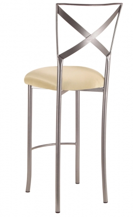 Simply X Barstool with Champagne Bengaline Cushion (1)