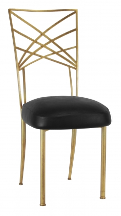 Gold Fanfare with Black Leatherette Boxed Cushion (2)