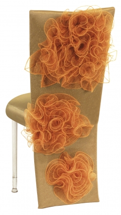 Gold Taffeta Jacket and Tulle Flowers with Boxed Cushion on Ivory Legs (1)