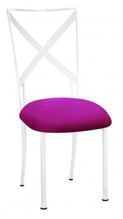 Simply X White with Magenta Stretch Knit Cushion (2)