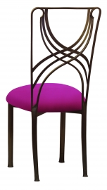 Bronze La Corde with Magenta Stretch Knit Cushion