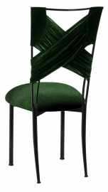 Green Velvet Sweetheart with Green Velvet Cushion on Black Legs