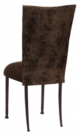 Durango Chocolate Leatherette with Chocolate Suede Cushion on Mahogany Legs
