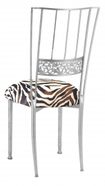 Silver Bella Fleur with Zebra Knit Cushion
