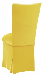 Sunshine Yellow Velvet Chair Cover, Cushion and Skirt