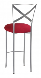 Simply X Barstool with Cranberry Stretch Knit Cushion