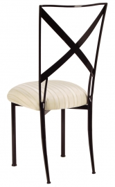 Blak. with Ivory Sateen Stripe Cushion