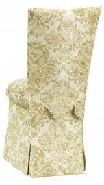 Ravena Chenille Empire Cut Chair Cover with Boxed Cushion and Skirt