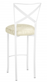 Simply X White Barstool with Victoriana Boxed Cushion