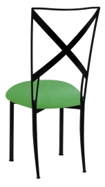 Blak. with Kelly Green Stretch Cushion