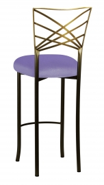 Two Tone Fanfare Barstool with Lavender Velvet Cushion