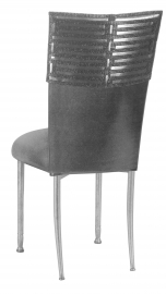 Head Dress with Gunmetal Stretch Knit Cushion on Silver Legs