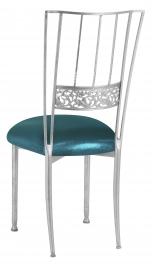 Silver Bella Fleur with Metallic Teal Cushion