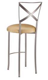 Simply X Barstool with Gold Stretch Knit Cushion