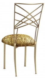 Gold Fanfare with Gold Lace and Gold Knit Cushion