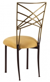 Two Tone Gold Fanfare with Gold Stretch Knit Cushion