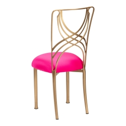 Gold La Corde with Hot Pink Stretch Knit Cushion