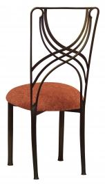 Bronze La Corde with Paprika Crushed Velvet Cushion